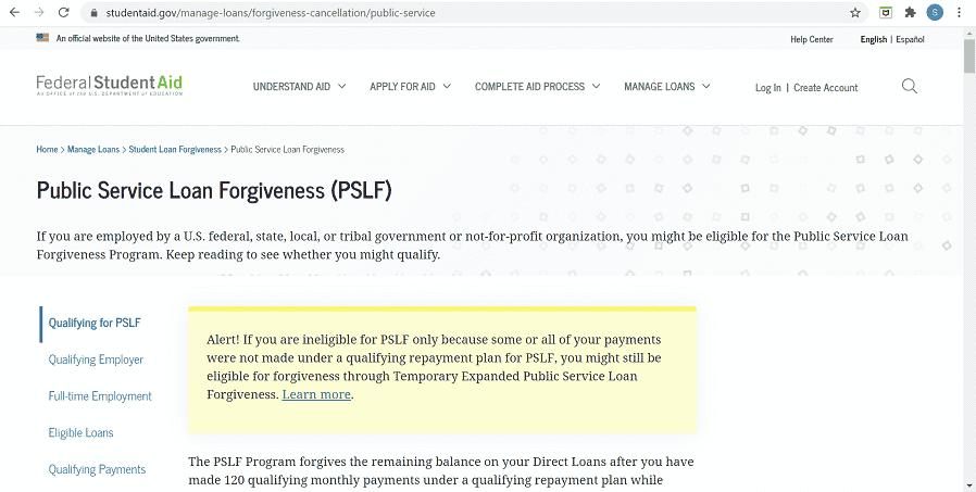 public-service-student-loan-forgiveness